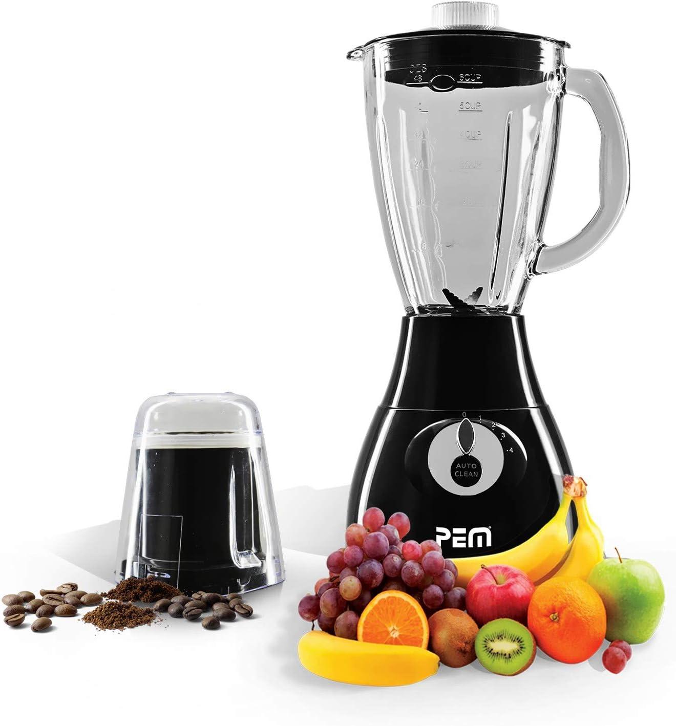 Licuadora (cristal) 350 W 1.7L 4 cuchillas + Grinder de café – PEM ...