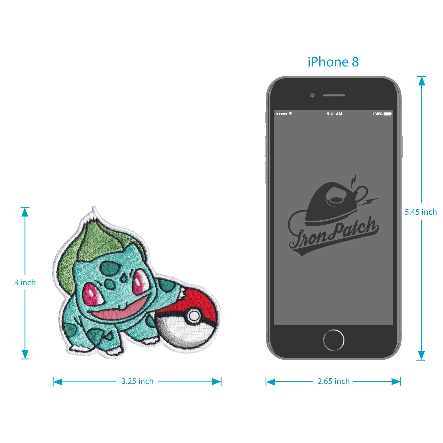 Hats Bulbasaur Anime Iron on /& Sew on Embroidered Applique Decoration DIY Craft for Tshirts Bags Denim Jackets