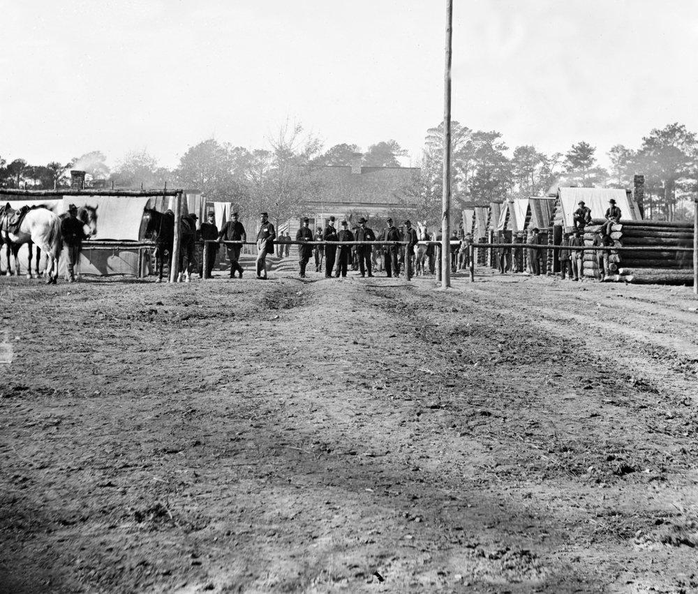 バミューダHundred、VA – gen. Butler 'sスタッフOfficers Quarters Civil War写真 36 x 54 Giclee Print LANT-20993-36x54 B01MG3RV97  36 x 54 Giclee Print
