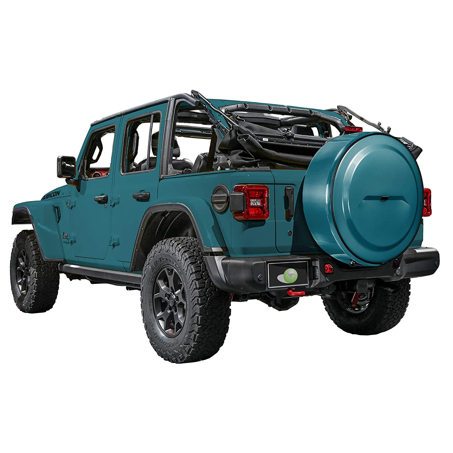 Sting-Gray with Back-up Camera Color-Matched MasterSeries Hard JL Tire Cover - Sahara - for use with 2018-2019 Jeep Wrangler JL Boomerang 255//70R18