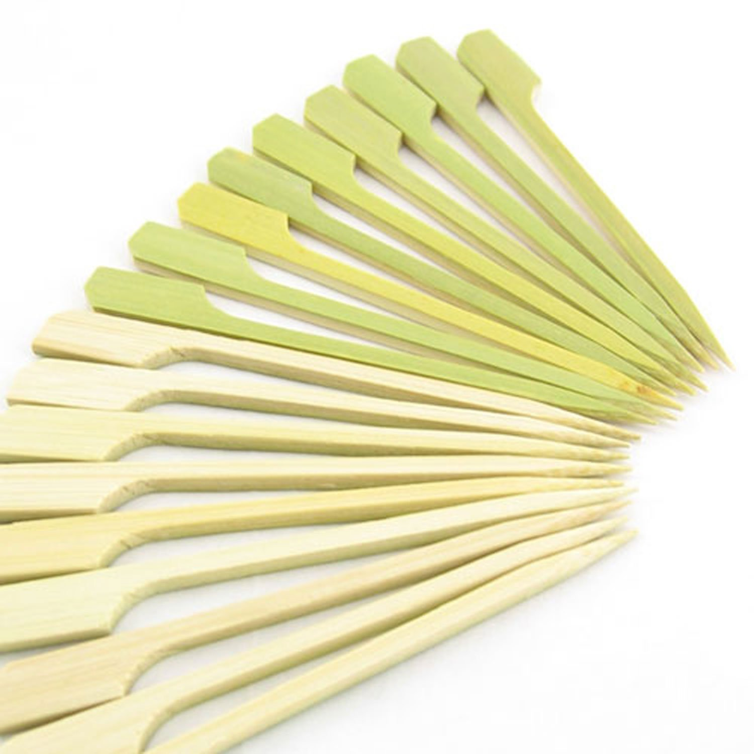 BambooMN 2.75'' Bamboo Paddle Cocktail Fruit Sandwich Food Picks Skewers for Catered Events, Holiday's, Restaurants or Buffets Party Supplies, 1000 Pieces