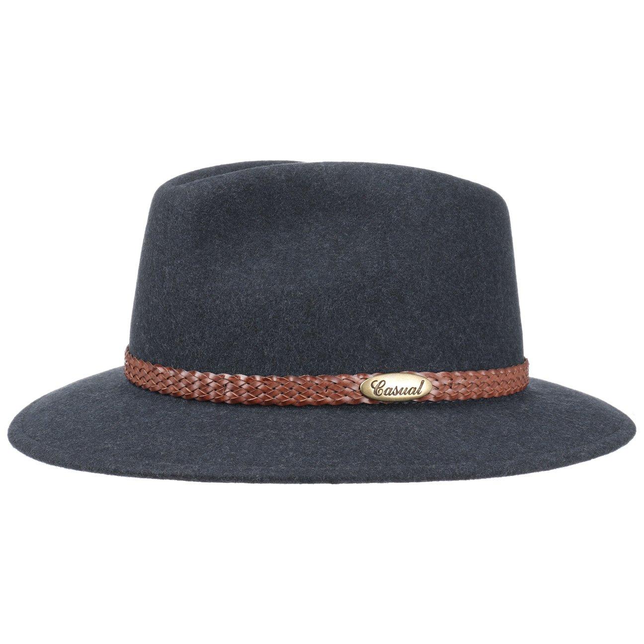 Cappello da Uomo Autunno//Inverno Lierys Cappello a 4 Colori Uomo Made in Italy Impermeabile e Ripiegabile Cappello in Feltro 55-61 cm Cappello Invernale