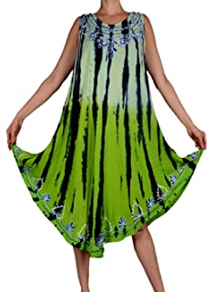JUNGLE LAGENLOOK TUNIKA KLEID STICKEREI 40 42 44 46 48 50 L XL XXL SHIRT STRAND