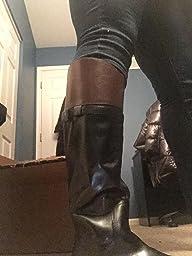 Amazon.com | Nine West Women's Velika Leather Knee-High Boot ...
