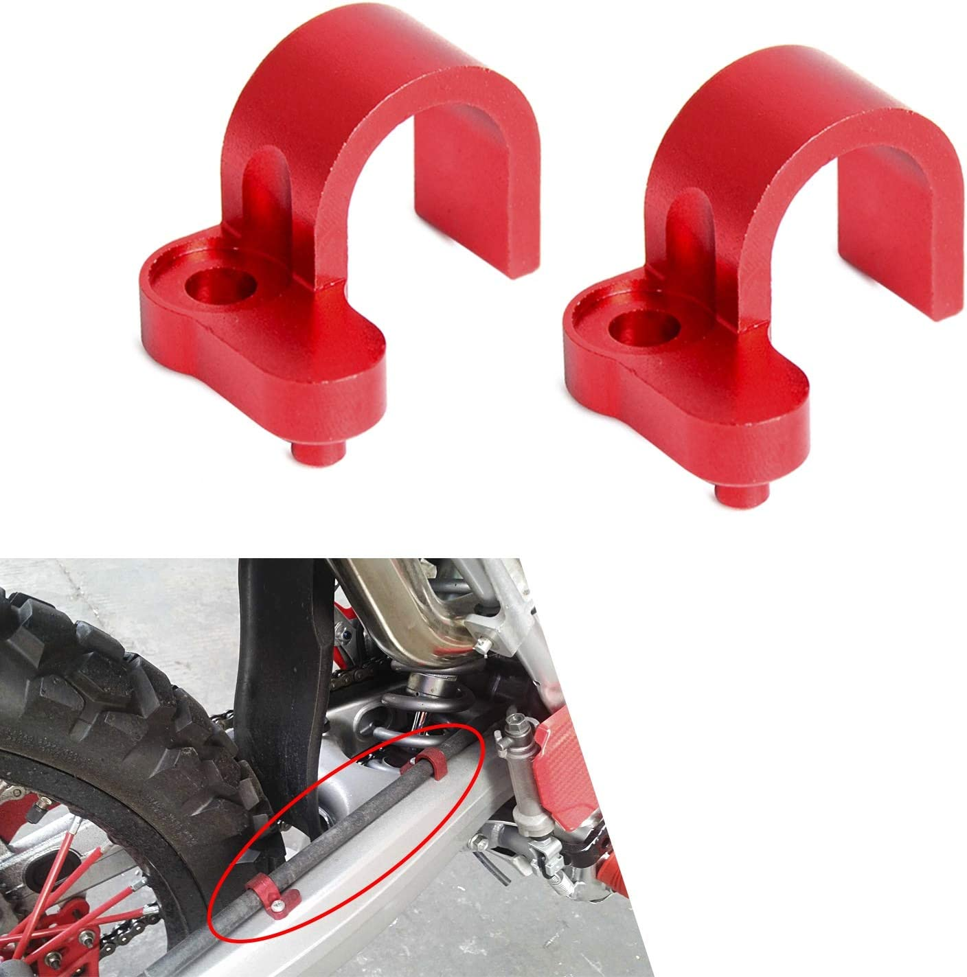 NO LOGO Vorne Hinten Bremsleitung Schlauchschelle Halter for Honda Crf250l Farbe : Rot M CRF250L CRF250M CRF 250L 250M 2012 2013 2014 2015