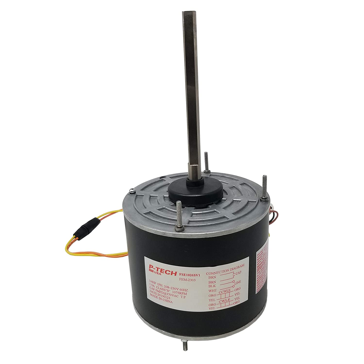 48 Frame Condenser Motor | Replaces: A.O. Smith FSE1026SV1