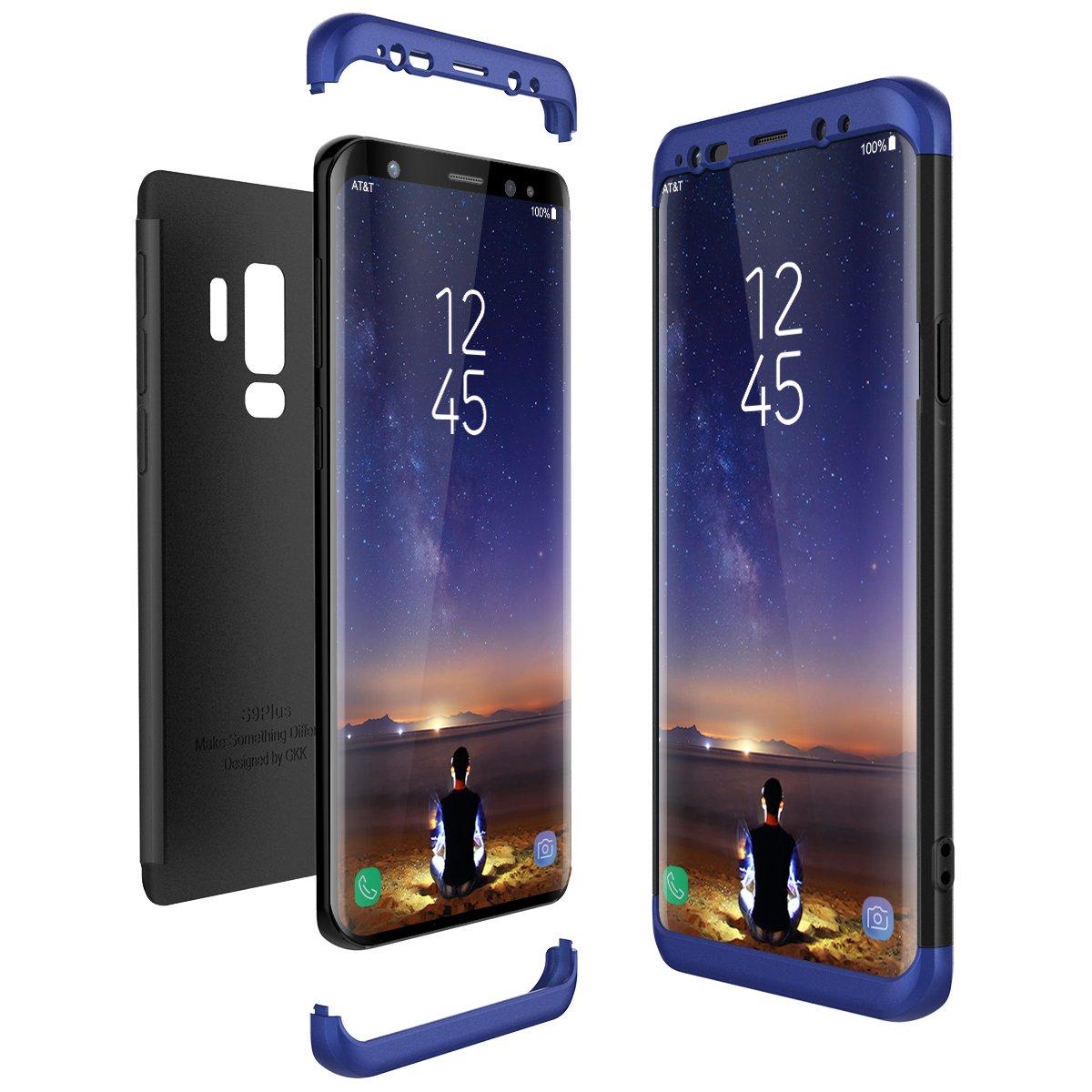 Samsung Galaxy S9 Plus S9+ Hülle, CE-Link Hardcase 3 in 1 Handyhülle Ultra Dünn Hartschale 360 Grad Full Body Schutz 3 Teilig Styliche Handytasche Backcover Schutzhülle Anti-Kratzer Elegant Stoßfest Hart PC Skin Rückdeckel Bumper - Rose Gold