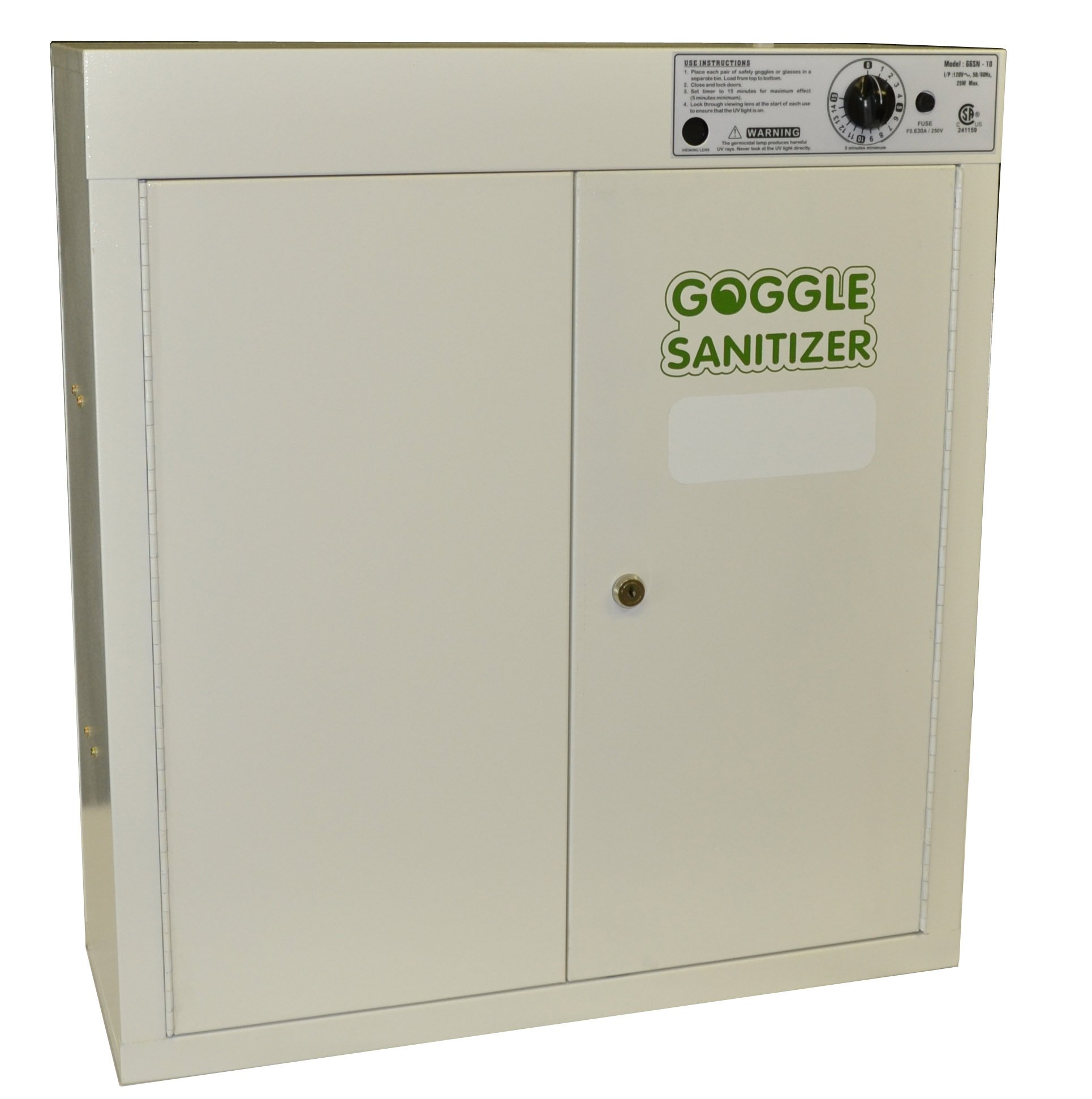 Eisco Labs Goggle Sanitizer Cabinet - 35 Goggle Capacity