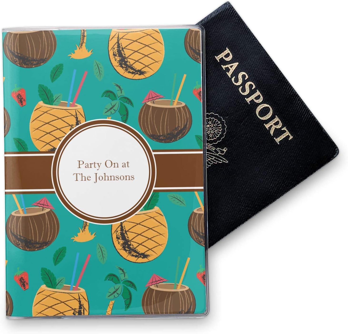 Coconut Drinks Vinyl Passport Holder Personalized