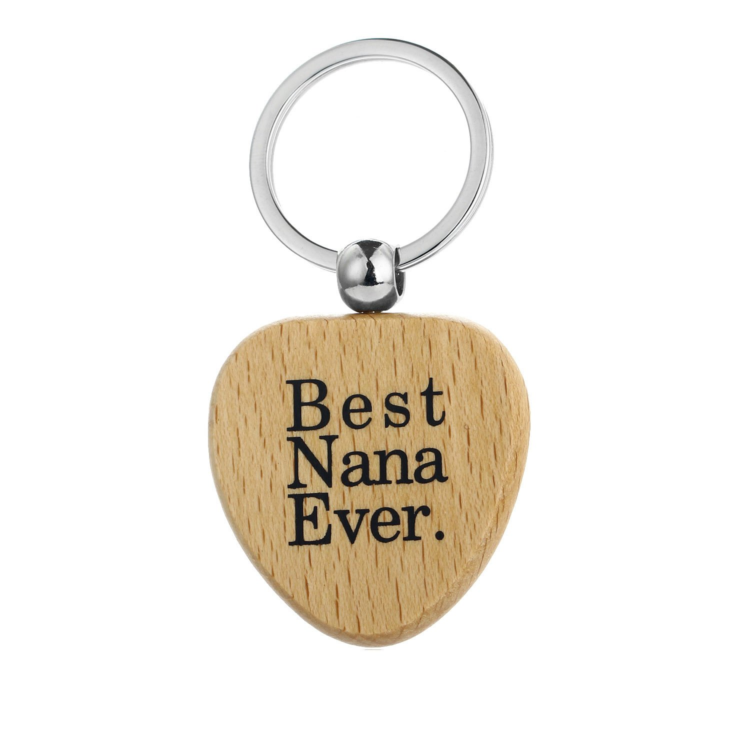 MayLove Father's Day Gifts for Grandpa Best Papa Ever Square shape Wood Keychain keyring ML-01-0002