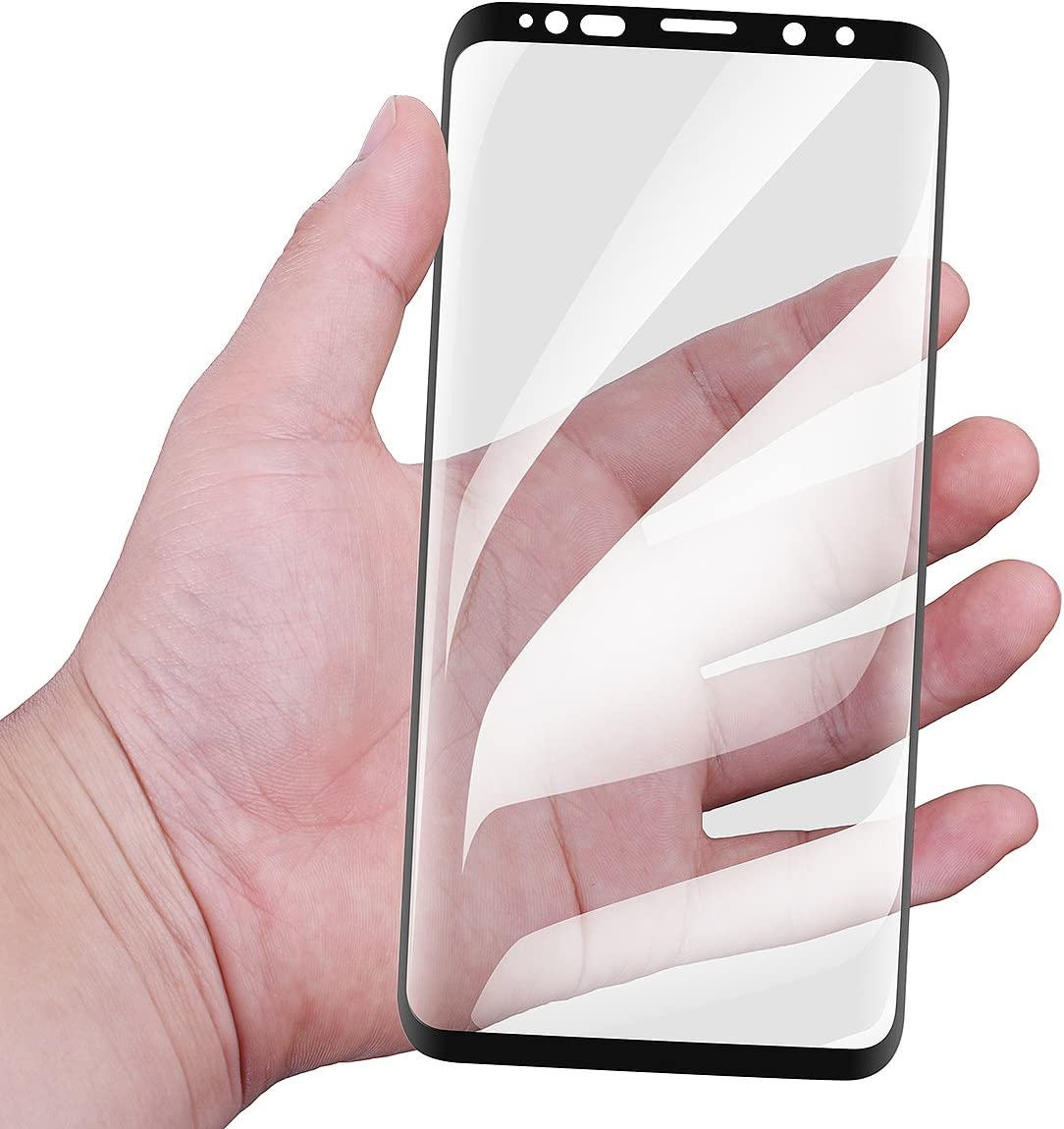 Black Full Coverage Edge to HD Ultra Clear 9H Hardness Bubble-Free Film for Samsung Galaxy S9 Plus AICase Galaxy S9 Plus Screen Protector Tempered Glass Full Frame 3D Curved Edge