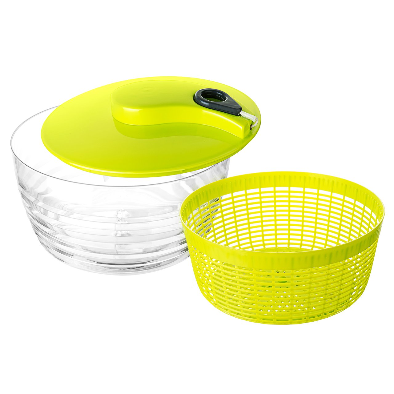 Pictek Salad Spinner, [Multi-Use] Compact Kitchen Aid Water Filting Basket For Drying Salad, Vegetables, Fruit, Pasta, etc with Durable Top of the Line, Large Size, Green YTGECP048AG-CAAA1
