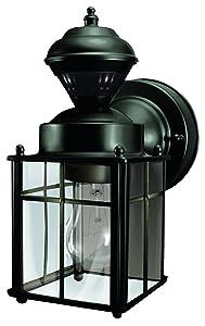 Heath/Zenith HZ-4132-BK Black Bayside Mission Motion Activated Security Lantern