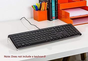 Ashnna - Soporte para teclado de ordenador (acrílico transparente, para oficina, ordenador,
