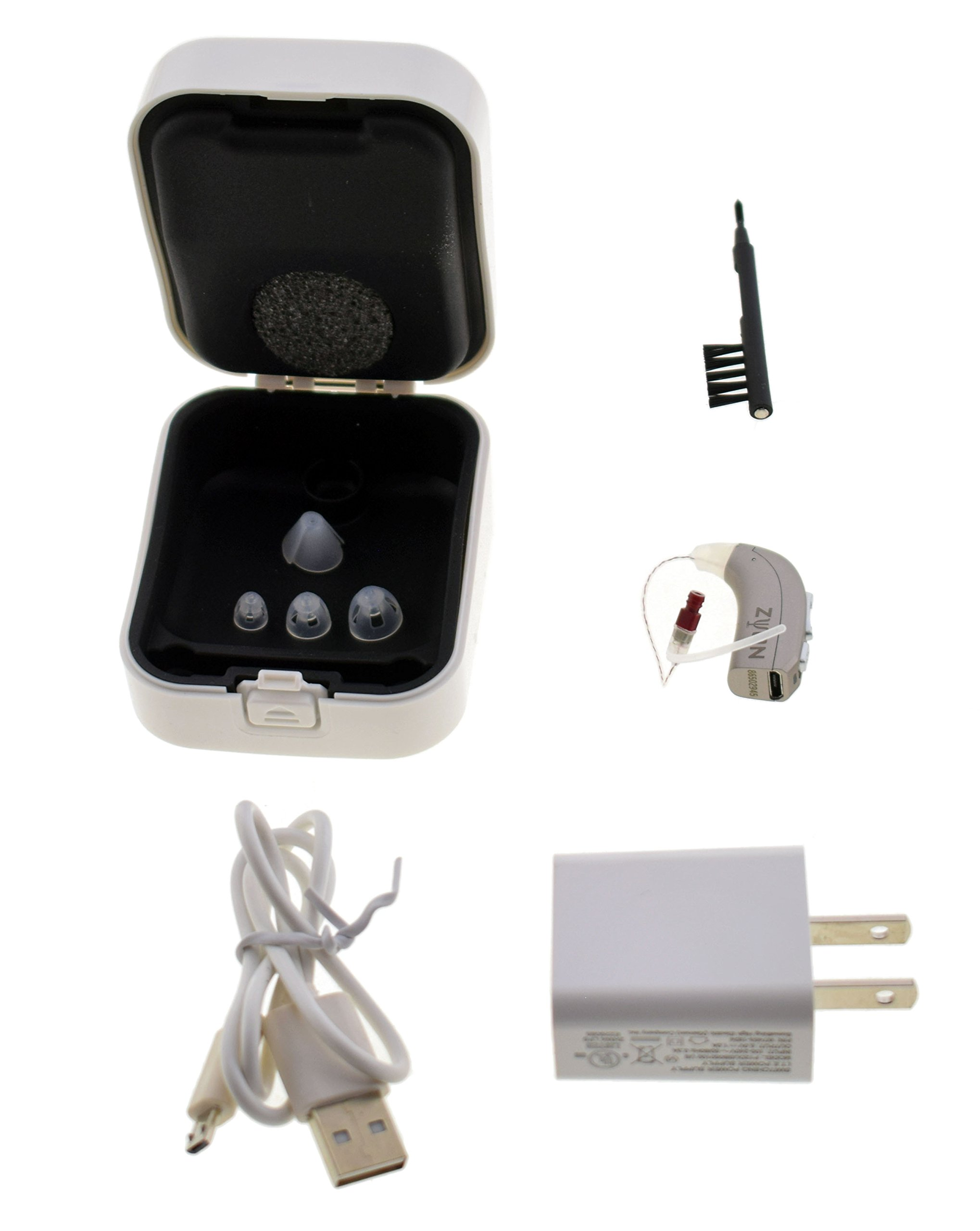 Zyon Rechargeable Hearing Amplifier RIC, Digital Wind Aid & Noise Reduction, for Adults Latest Version (Right) by Zyon (Image #2)