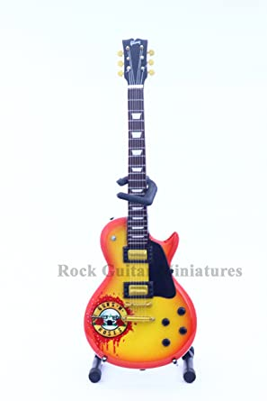 RGM56 Slash GUNS N ROSES Logo Guitarra en miniatura