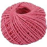 50m Corde de Chanvre Ficelle Cordon pour Emballage Cadeau Artisanat DIY - Rose Clair