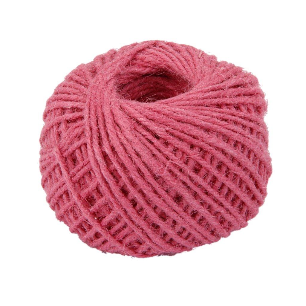 50M Wrap Gift Hemp Rope Ribbon Twine Rope Cord String Ball Light Pink Generic