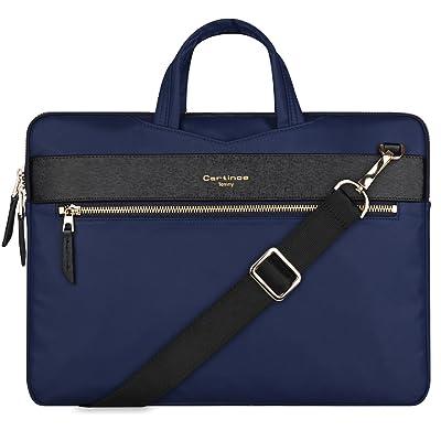 11 inch Laptop Bag, College Business Briefcase Tablet Sleeve Case 11-11.6 inch Laptop Shoulder Messenger Bag for Apple Macbook Air Pro/iPad/Dell ASUS Lenovo HP Acer Tablet Ultrabook - Blue