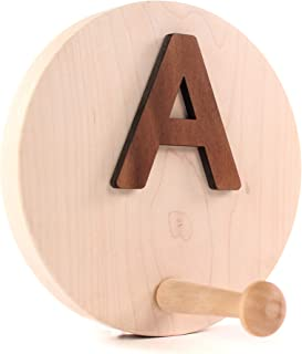 product image for Smiling Tree Toys Handmade Personalized Coat Hook, Natural Organic Wood, Made for Baby Nursery, Toddler, Kids Room (Monogram Only)
