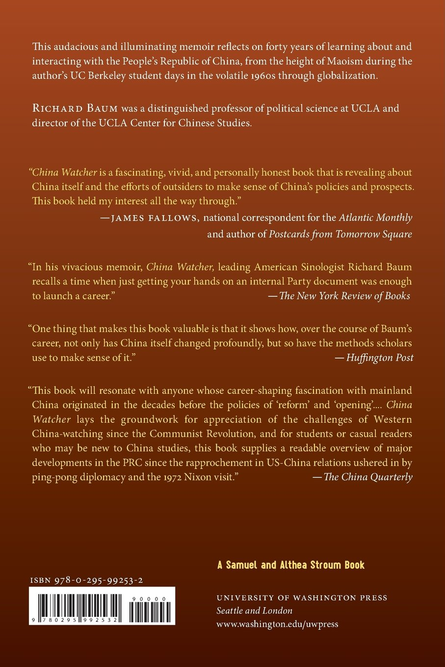 Amazon China Watcher Confessions Of A Peking Tom Samuel And Althea Stroum Books 9780295992532 Richard Baum