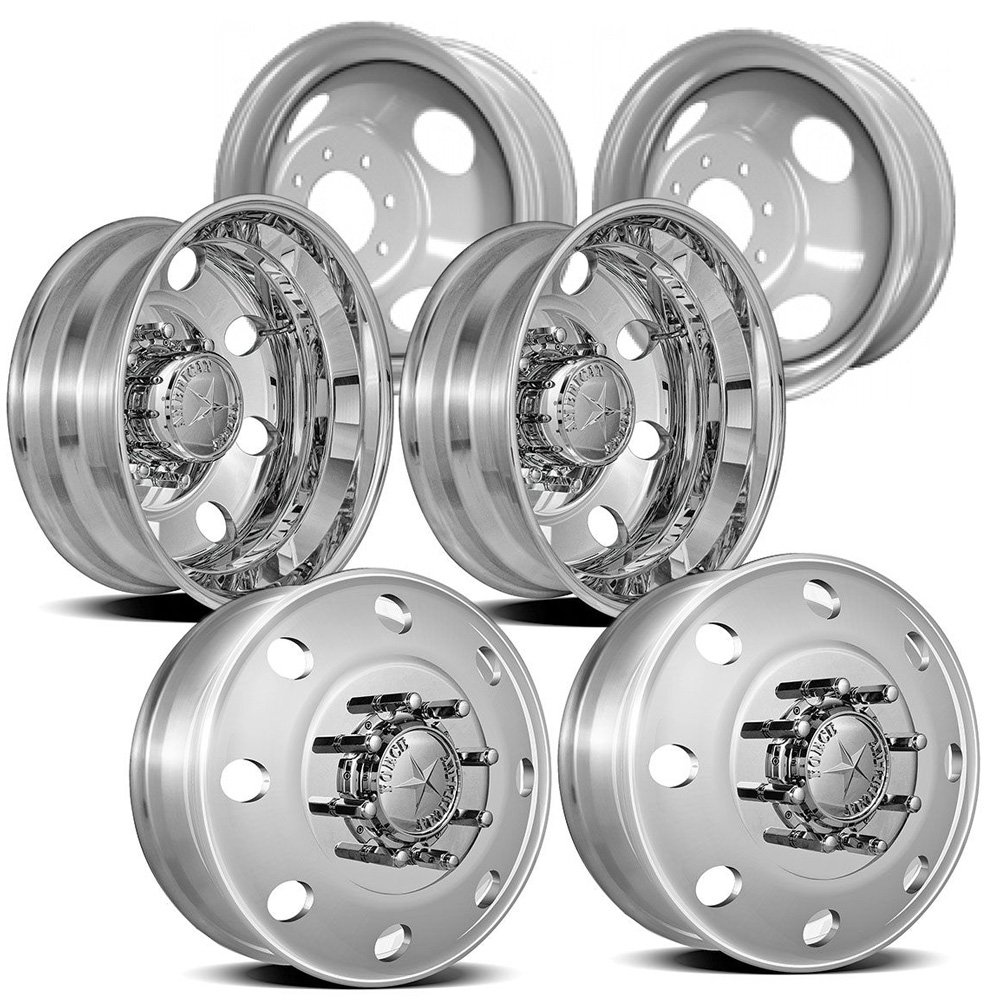 Dodge 3500 Dually 19.5'' Aluminum Dual Wheel Kit by American Force (Image #1)