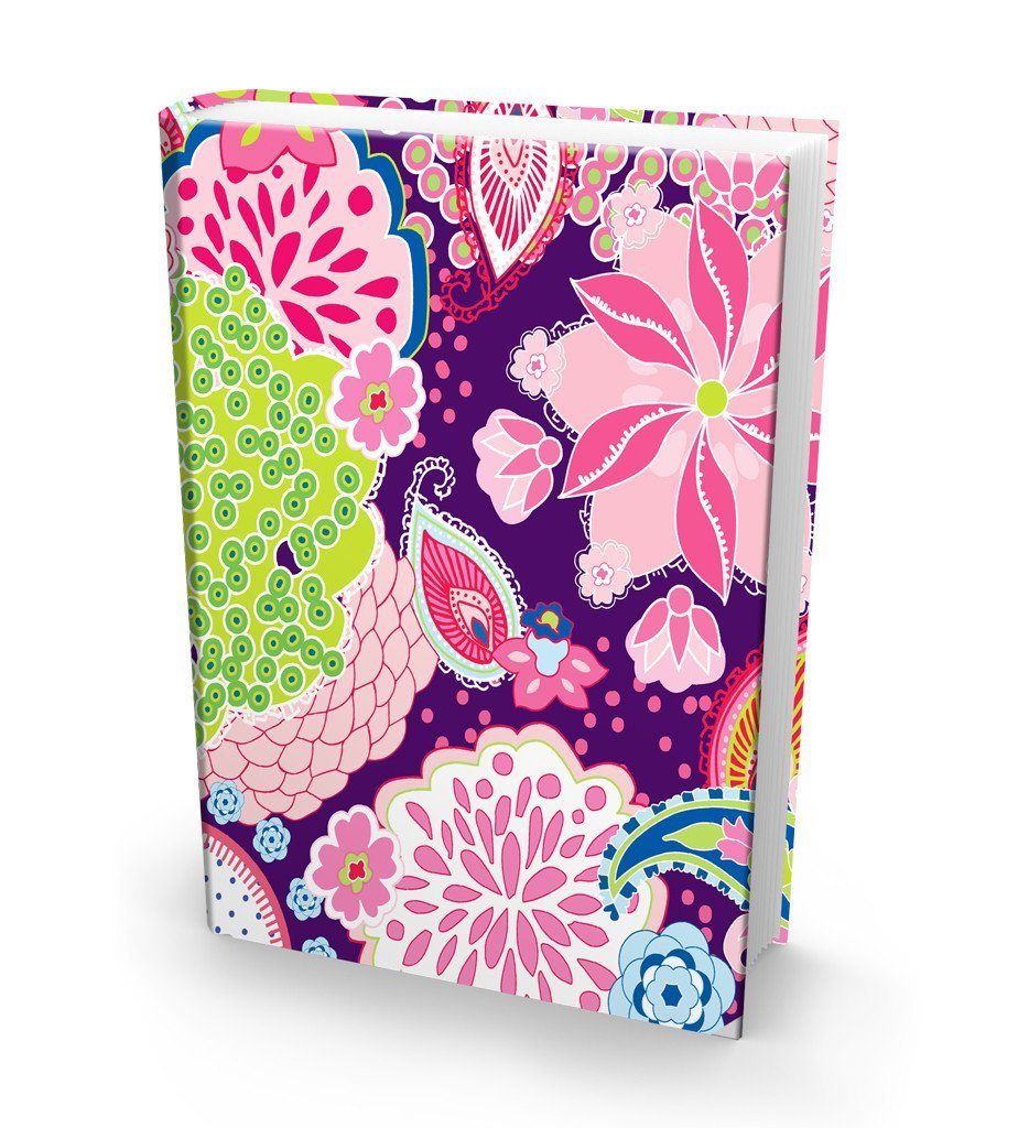 Fits Most Hardcover Textbooks up to 9 x 11 Book Sox Stretchable Book Cover: Jumbo Berry Smoothie Print Washable /& Reusable Jacket Adhesive-Free Easy to Put On Nylon Fabric School Book Protector