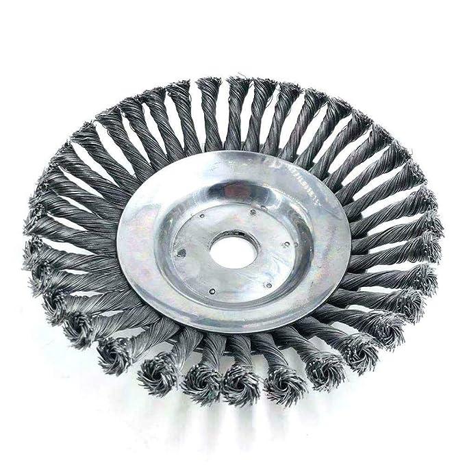 Runde Twist Wire Wheel Bürste zum Bürsten Unkrautschneiden Schneidkopf zum DE