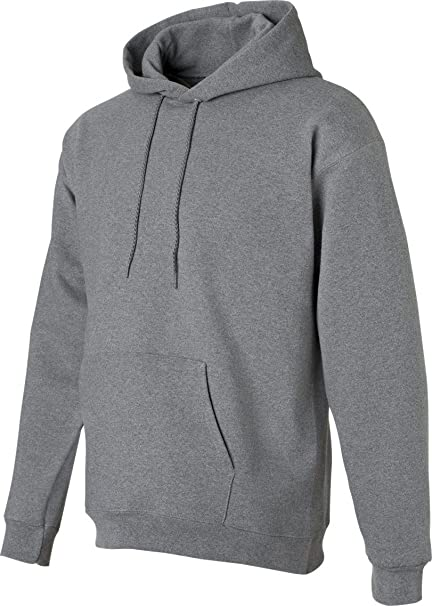 Hanes Ultimate Cotton Pullover Fleece Mens Hood 10 oz # F170,Small,Oxford Gray