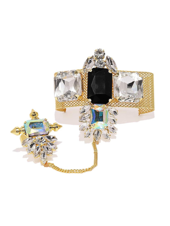Buy Zaveri Pearls Gold Tone Crystal Shine Stones Studded ...