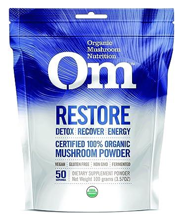 Amazoncom Om Organic Mushroom Nutrition Supplement Restore Detox