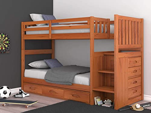 Mission Twin Over Twin Staircase Bunk Bed