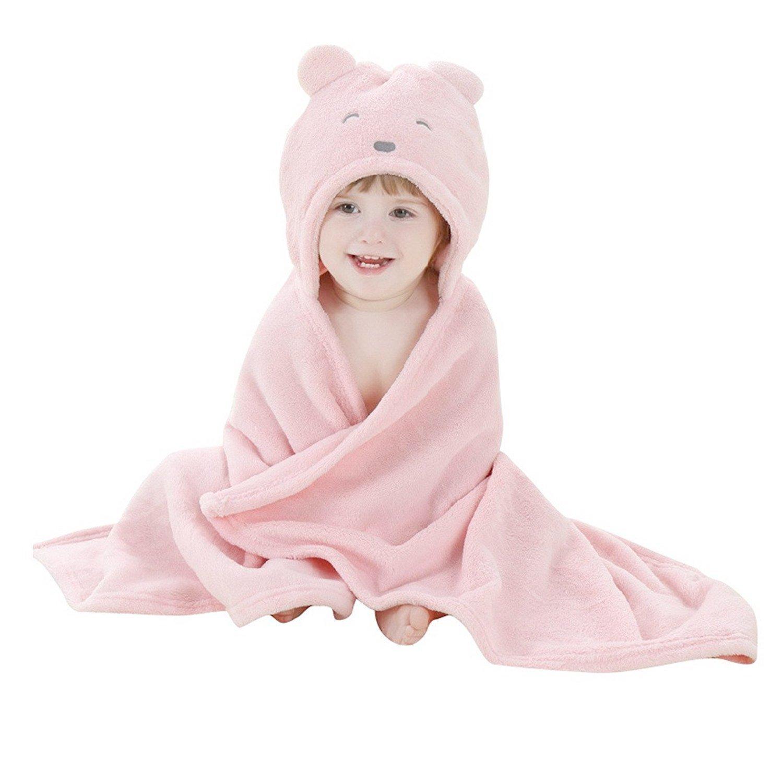 Peignoir de bain à Capuche Animaux Serviette de bain avec Chapeau ... 053210175fc