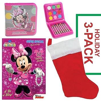 Amazon.com: Minnie Mouse Christmas Stocking Stuffer Bundle - Disney ...