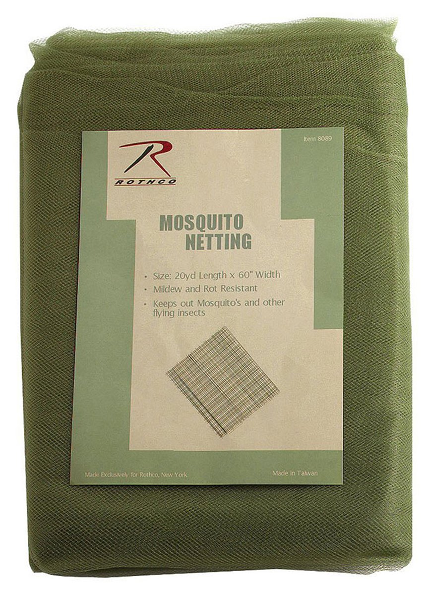 Rothco Mosquito Netting/20Yd Polybag, Olive Drab RSR Group Inc 613902280892