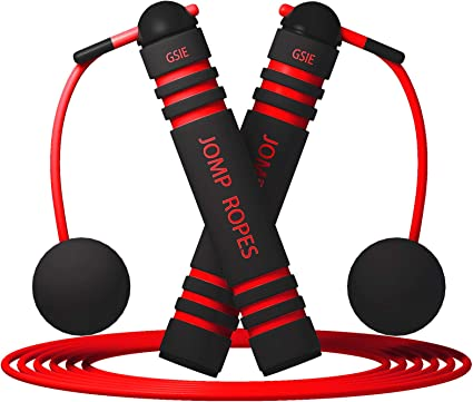 Children Replaceable 9.2ft wire rope Included Women Cordless Jump Rope 2 in 1 Ropeless jump Rope with Anti-Slip Sponge Handles for Fitness Tangle-Free Cordless skipping Rope with Ball Bearing Bod Rope Workout for Men