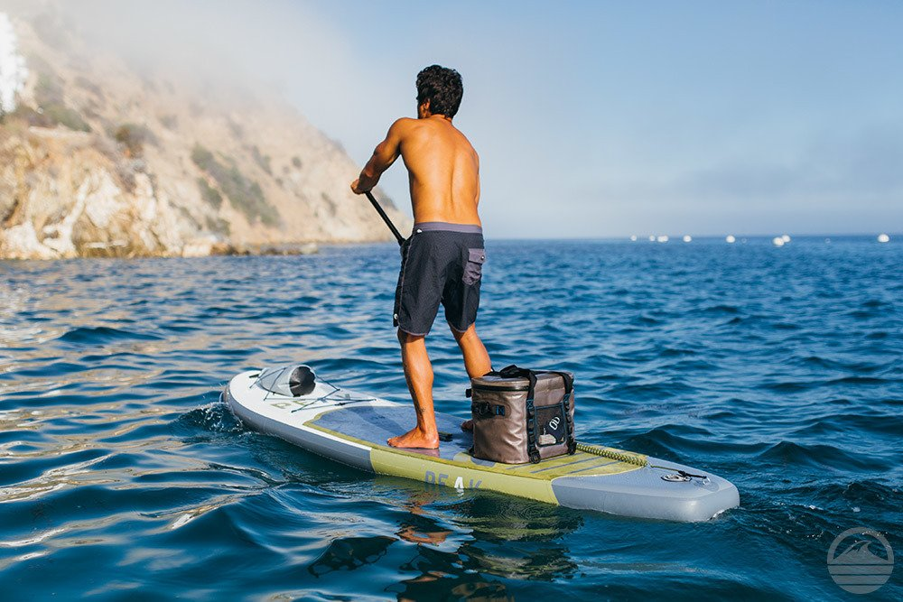 Peak All Around Inflatable Stand Up Paddle Board Package | 10'6'' Long x 32'' Wide x 6'' Thick | Durable and Lightweight SUP | Stable Wide Stance | White by PEAK Paddle Boards (Image #3)