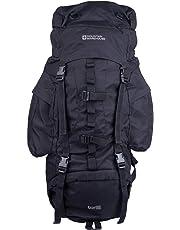 Mountain Warehouse Tor 65L Spacious Rucksack - Ladderlock Back Travel Backpack, Padded Air Mesh Bag, Pockets Camping Bag, Durable Daysack - For All Season Travelling