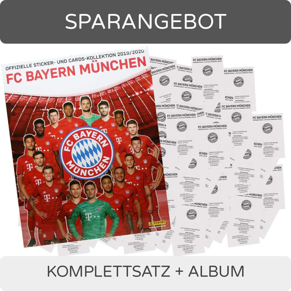 1 Album FC Bayern M/ünchen Sticker- und Cards-Kollektion 2019//20-1 Komplettsatz CAGO Panini