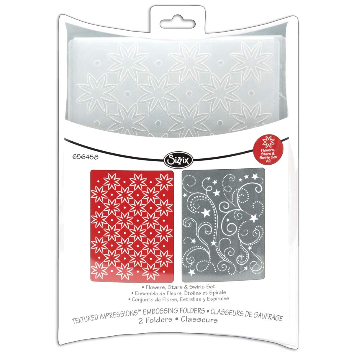 Textured Impressions Embossing Folders Flowers Stars and Swirls Set (8 Pack)