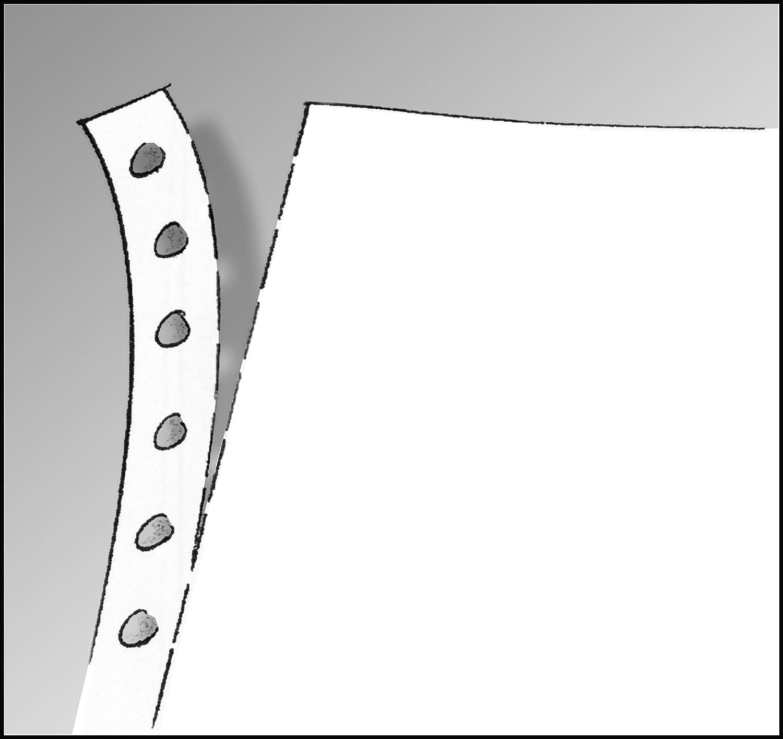 4000 fogli con i lati perforati Carta per stampante DIN 76 x 240 mm 70 g//m/² Sigel 3241 1 lato bianco