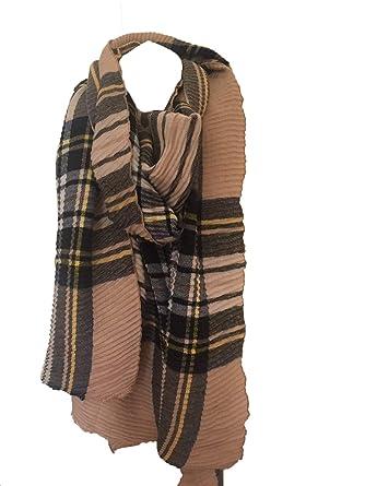 ec6e95cac62c6 Samanthjane Clothing Unisexe Pour homme femme Tartan Long Grande écharpe  Wrap Châle Pashmina NEUF, Marron -  Amazon.fr  Vêtements et accessoires