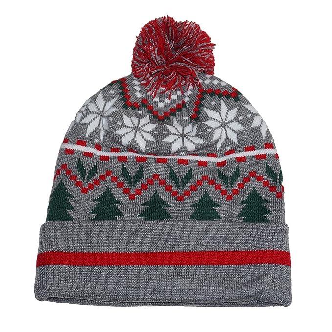 Gertex Adult Christmas Holiday Knit Beanies (Grey X-Mas) at Amazon ... c4613fcedbd