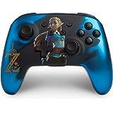 PowerA Enhanced Wireless Controller for Nintendo Switch - Satin Blue Chrome Zelda (Only at Amazon.Com) - Nintendo Switch