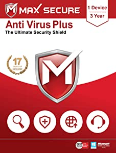 Max Secure Software Anti Virus Plus Version 6 - 1 PCs, 3 Years (Email Delivery in 2 Hours - No CD)