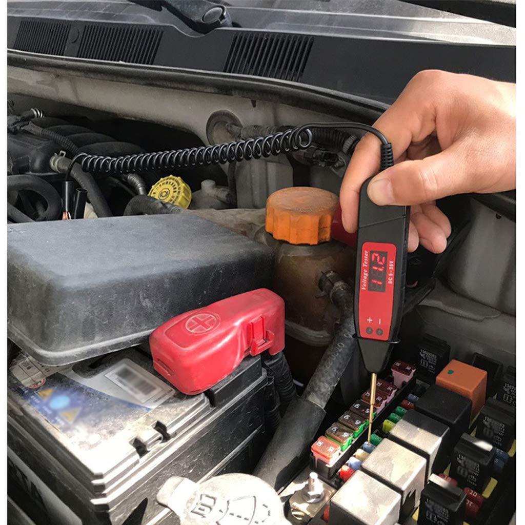 FLAMEER Auto LKW-Auto-Stromkreisspannung Tester DC 6V 12V 24V Testlicht-Feder-Werkzeug