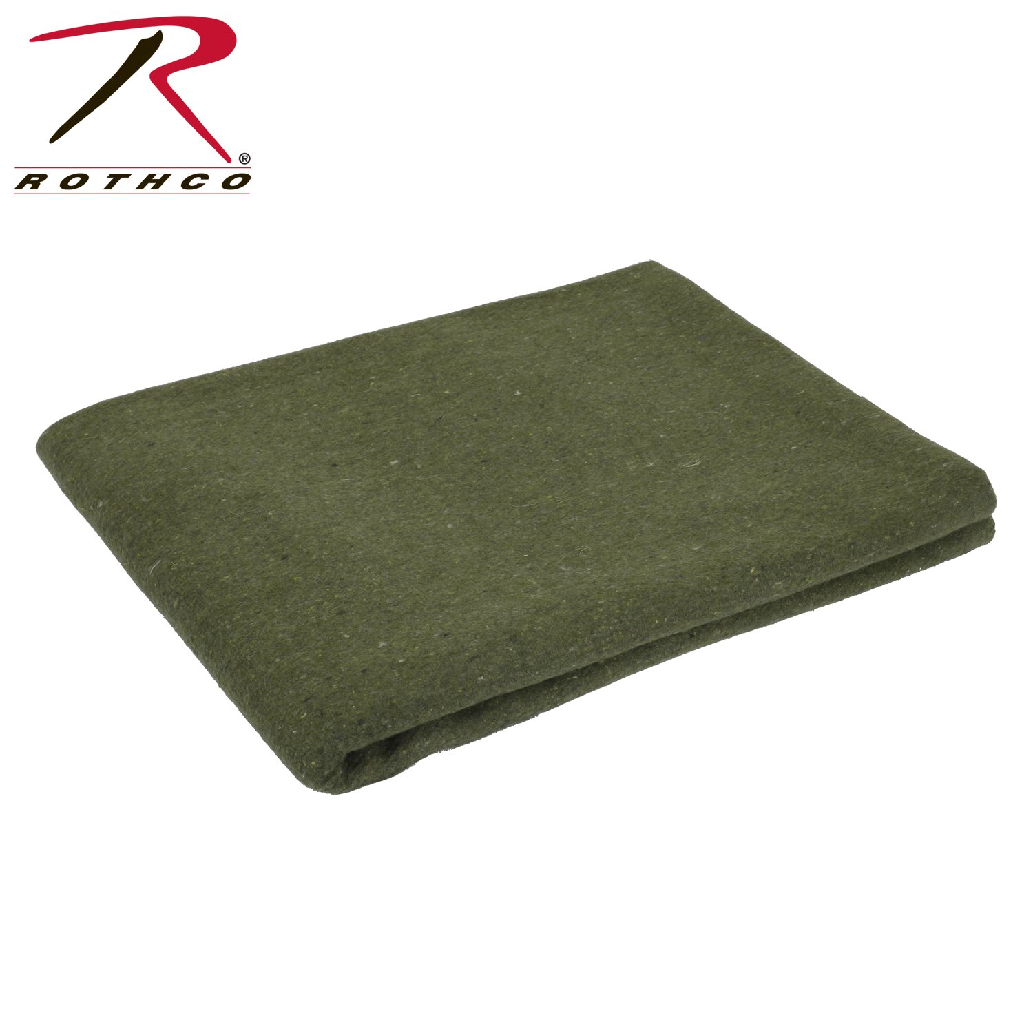 Rothco Wool Rescue Blanket, Olive Drab