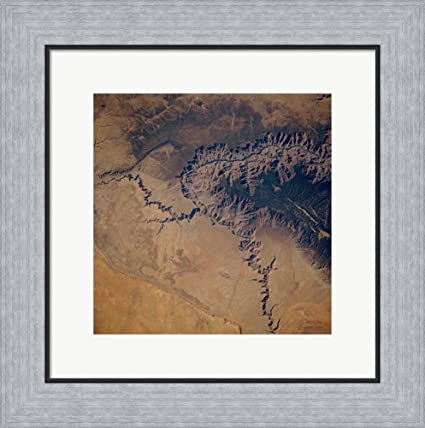 Amazon Grand Canyon From Space Framed Art Print Wall Picture