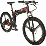 Vilano PROTON Electric Folding Mountain Bike, 26-Inch Mag Wheels