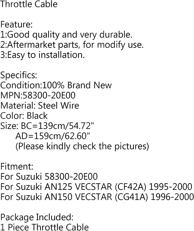 CF42A Artudatech 1 St/ück Motorrad Gaszug Gaszug Draht Leitung Gas f/ür S-U-Z-U-K-I AN125 VECSTAR 1995-2000